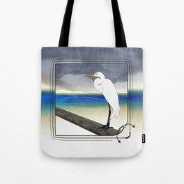 American Great Egret Tote Bag