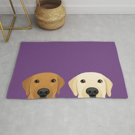Tan Lab & Yellow Lab Rug