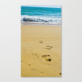 Walked into the Sea Canvas Print