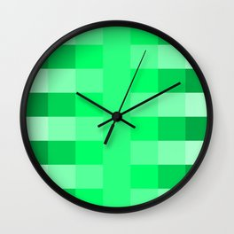 green pea pattern Wall Clock