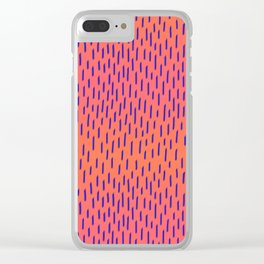 Sunset Dash Clear iPhone Case
