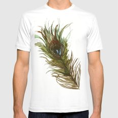 Peacock MEDIUM Mens Fitted Tee White