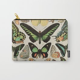 Papillon II Vintage French Butterfly Chart by Adolphe Millot Carry-All Pouch