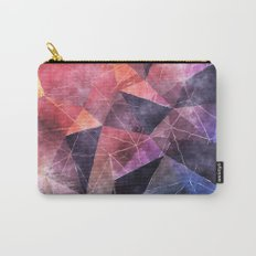 In the deep of the earth- Abstract colorful triangle watercolor pattern #Society6 Carry-All Pouch