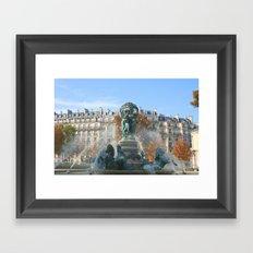 Paris Fountain Framed Art Print