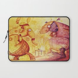 the unbelievable tabletennis- match of doom Laptop Sleeve
