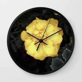 The Soft Yellow Flower (Vintage) Wall Clock