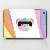 bondage iPad Cases featuring Classic Rainbow Bondage Bear by YOSH FRIDAY