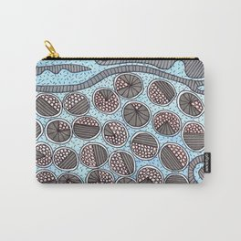 Trapped Circles Pattern Carry-All Pouch