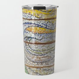 Waves on Grain Travel Mug