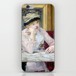 Edouard Manet Plum Brandy iPhone Skin