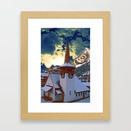 old little church in kandersteg swizz Framed Art Print