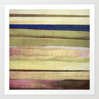 striped Art Prints featuring striped by Iris Lehnhardt