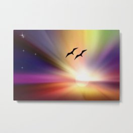 Particularly colorful sunset. Metal Print