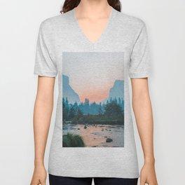 Pastel Yosemite #society6 #buyart Unisex V-Neck