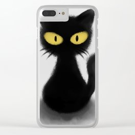 Toothless The Black Cat Clear iPhone Case
