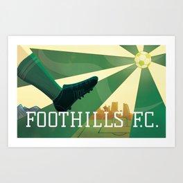 Foothills F.C. Art Print