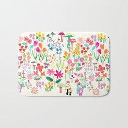 The Odd Floral Garden I Bath Mat