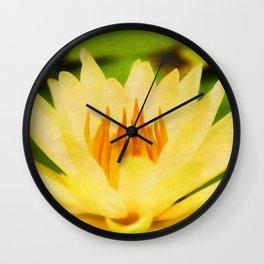 Nelumbo Lutea II Wall Clock