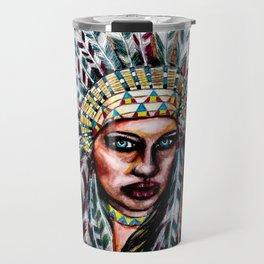 Lumbee Woman - Indian Native American Travel Mug