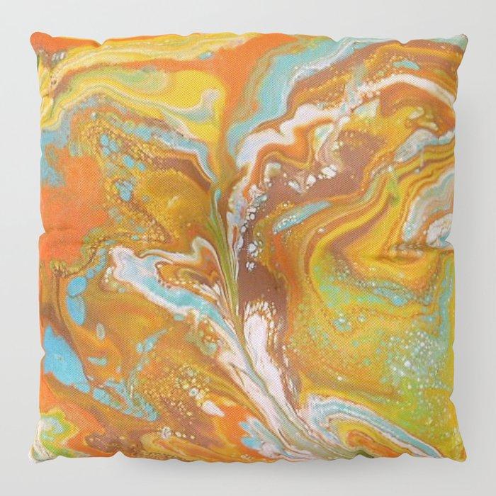 Orange Fizz Floor Pillow