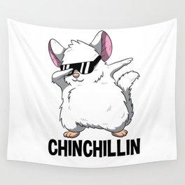Dabbing Chinchillin T Shirt Chinchilla Cute Pet Wall Tapestry