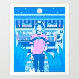 Tokyo BF w/ Nostalgic Anime Hero Art Print