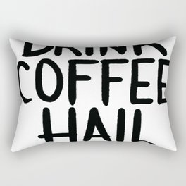 DRINK COFFEE, HAIL SATAN T-SHIRT Rectangular Pillow