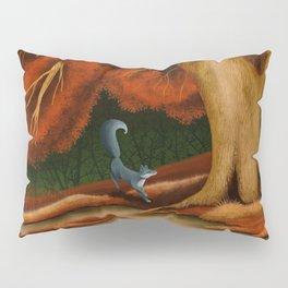 Blue Fox at The Dark Pool of Malkkaard Pillow Sham