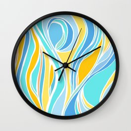 Beach Day Abstract Wall Clock