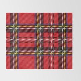 red kilt Throw Blanket
