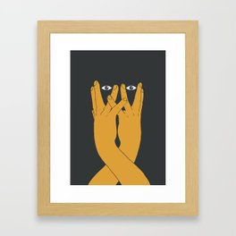 Hands mask Framed Art Print