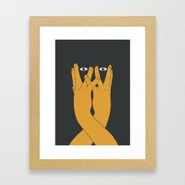 Hands mask Framed Art Print