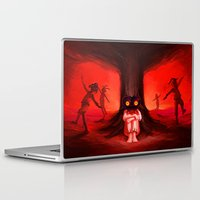 majora Laptop & iPad Skins featuring MAJORA MASK by Veylow