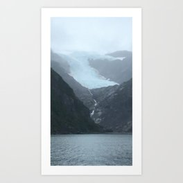 Retreating Glacier Art Print