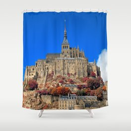 Autumn Shades of Mont Saint-Michel Shower Curtain