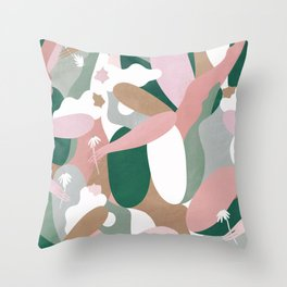 Depiction Of Self Love (emerald) Throw Pillow