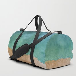 Blue Ocean Sea Shoreline - Drone photography Duffle Bag
