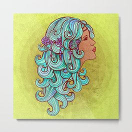 Boho Gypsy Girl Metal Print