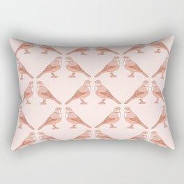 Rufous Bellied Thrush Bird Pattern Rectangular Pillow