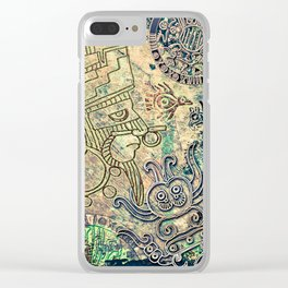 Ancient Mexico Clear iPhone Case