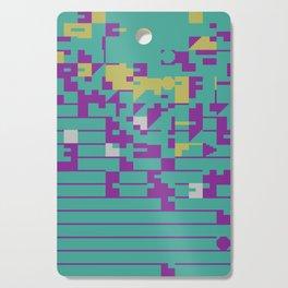 Abstract 8 Bit Art Cutting Board
