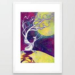 Longing for Luna Framed Art Print