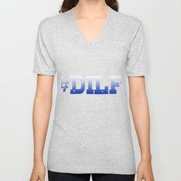 Hashtag Dilf Unisex V-Neck