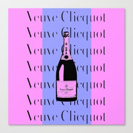 Veuve Clicquot Pop Art - Pink and Purple Canvas Print