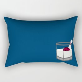 Hey, careful, man, there's a beverage here!  Rectangular Pillow