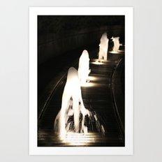 Fountains of Light Art Print