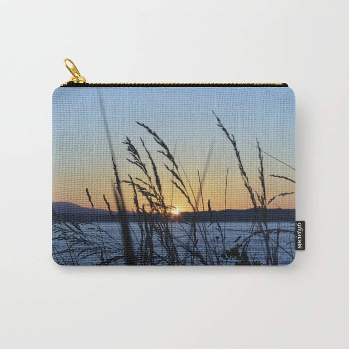 Sunset Sea Grass Carry-All Pouch