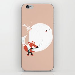 Fox and Whale iPhone Skin