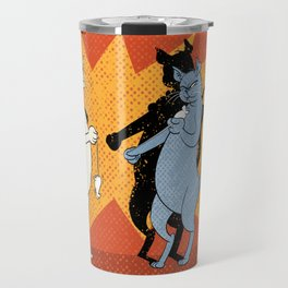 Cats playing conkers Travel Mug